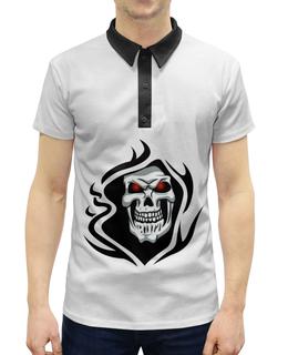 """Рубашка Поло с полной запечаткой """"Череп"""" - череп"""
