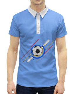 """Рубашка Поло с полной запечаткой """"Футбол"""" - футбол, спорт, мяч"""