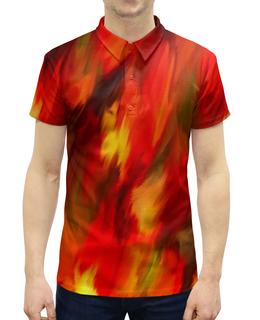 """Рубашка Поло с полной запечаткой """"Смесь красок"""" - узор, пятна, краски, абстракция, текстура"""