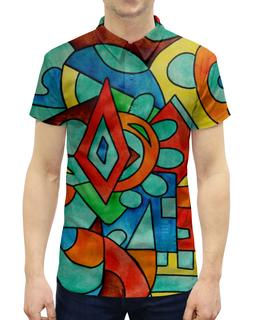 """Рубашка Поло с полной запечаткой """"z//;vcw`0m0"""" - арт, узор, абстракция, фигуры, текстура"""