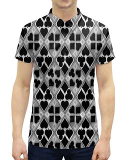 """Рубашка Поло с полной запечаткой """"Масти карт"""" - карты, игры, фигуры, символы, масти"""