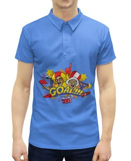 """Рубашка Поло с полной запечаткой """"Футбол"""" - футбол, спорт, россия"""