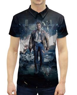 """Рубашка Поло с полной запечаткой """"Звездные войны - Финн"""" - кино, фантастика, star wars, звездные войны, дарт вейдер"""