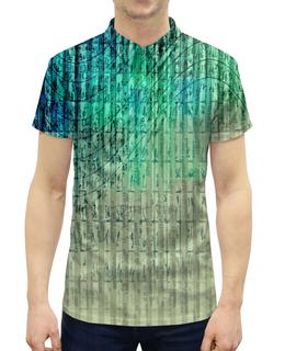 """Рубашка Поло с полной запечаткой """"Иероглифы"""" - краски, знаки, символы, иероглифы, числа"""