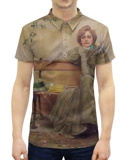 """Рубашка Поло с полной запечаткой """"Мечты (Витторио Коркос)"""" - картина, философия, меланхолия, живопись, коркос"""