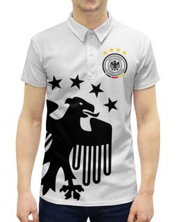 """Рубашка Поло с полной запечаткой """" Сборная Германии"""" - сборная германии, футбол, германия, сборная германии по футболу"""