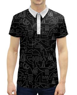 """Рубашка Поло с полной запечаткой """"UFO Style"""" - фантастика, символы, инопланетяне, ufo, пришелцы"""