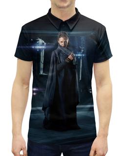 """Рубашка Поло с полной запечаткой """"Звездные войны - Лея"""" - кино, фантастика, star wars, звездные войны, дарт вейдер"""
