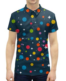 """Рубашка Поло с полной запечаткой """"ДИСКО"""" - звезды, диско, на вечеринку"""