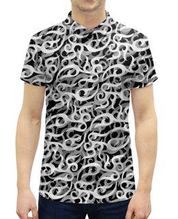 """Рубашка Поло с полной запечаткой """"Anticamo"""" - спорт, камуфляж, туризм, camo, охота"""