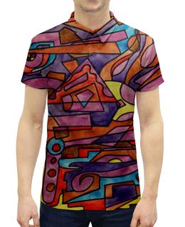 """Рубашка Поло с полной запечаткой """"DZ,P9////O`FV"""" - арт, узор, абстракция, фигуры, текстура"""