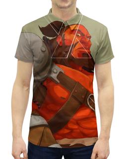 """Рубашка Поло с полной запечаткой """"Axe-топор"""" - киберспорт, дота 2, компьтерная игра dota 2, axe-топор"""