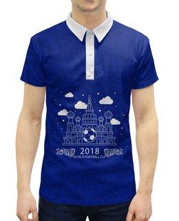"""Рубашка Поло с полной запечаткой """"Футбол"""" - футбол, спорт, 2018, мяч"""