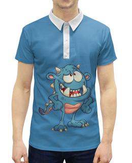 """Рубашка Поло с полной запечаткой """"Монстр"""" - монстр, фантазия"""