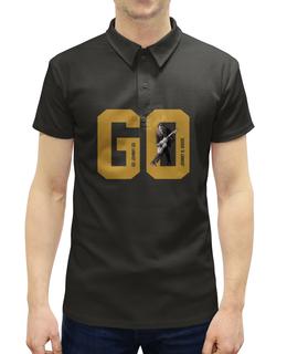 """Рубашка Поло с полной запечаткой """"Go, Go Johnny Go!"""" - чак берри, chuck berry, rock & roll, рокенрол, johnnybgood"""