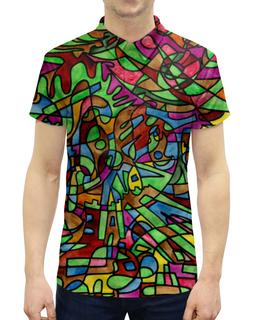 """Рубашка Поло с полной запечаткой """"s`s`s-0.w"""" - арт, узор, абстракция, фигуры, текстура"""