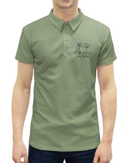 """Рубашка Поло с полной запечаткой """"Хочу на море"""" - кот, юмор, море, котомка, хотелки"""