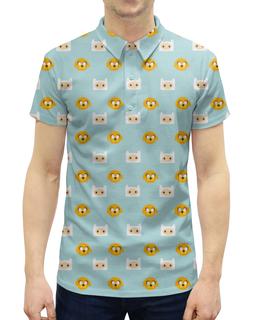 """Рубашка Поло с полной запечаткой """"Время приключений"""" - adventure time, время приключений, фин, джейк"""