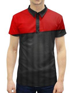 """Рубашка Поло с полной запечаткой """"Текстура"""" - абстракция, текстура, линии, colorful, abstact"""