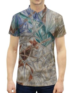 """Рубашка Поло с полной запечаткой """"Стекло (картина Михаила Ларионова)"""" - картина, живопись, авангард, ларионов"""