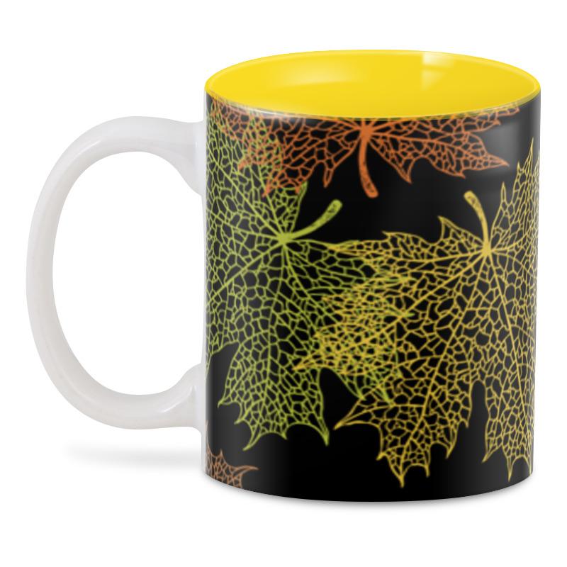 3D кружка Printio Кленовые листья кружка цветная внутри printio листья