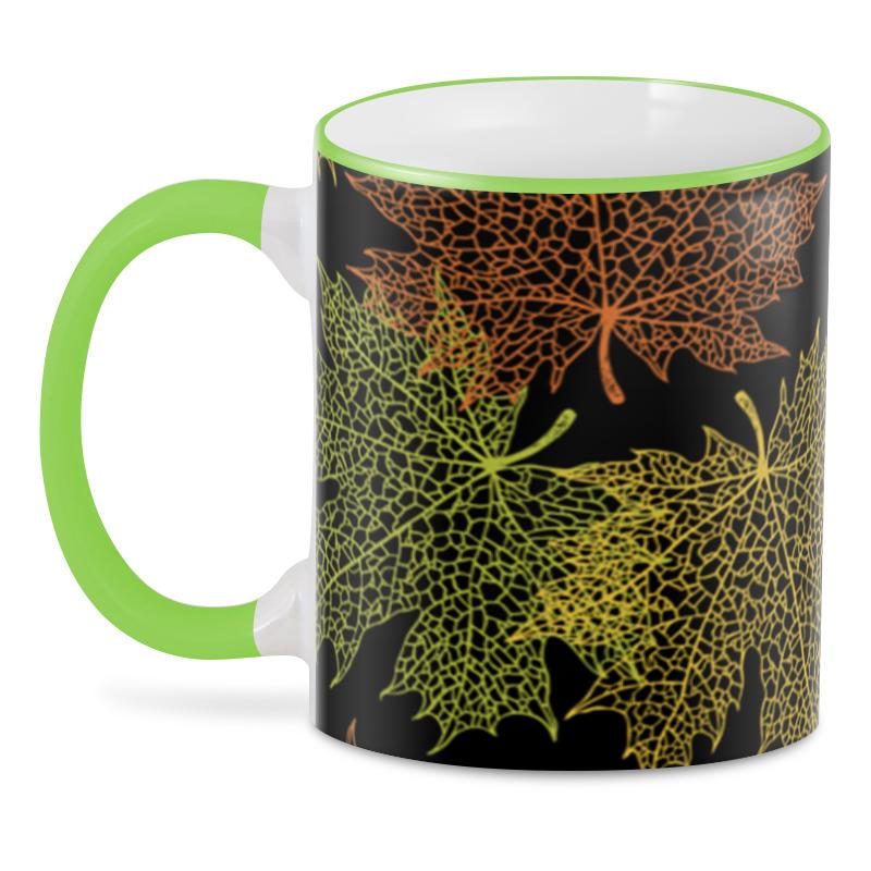 3D кружка Printio Кленовые листья кружка printio листья