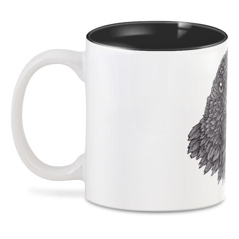 3D кружка Printio Портрет птицы ворона. временная татуировка yz 3d diy flash zi035