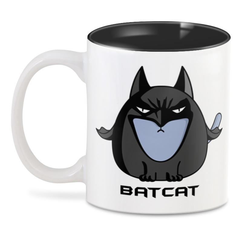 Printio Бэтмен - кот 3d кружка printio кот лаборант