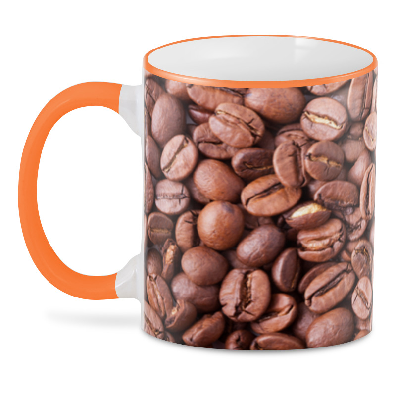 3D кружка Printio Зерна кофе цена и фото