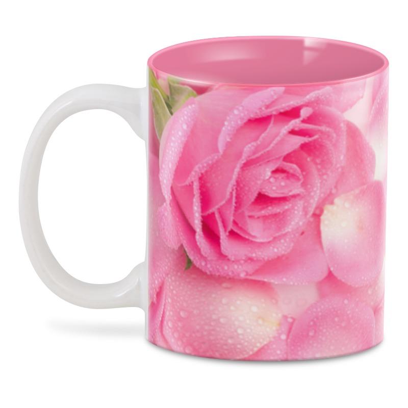 3D кружка Printio Лепестки розы