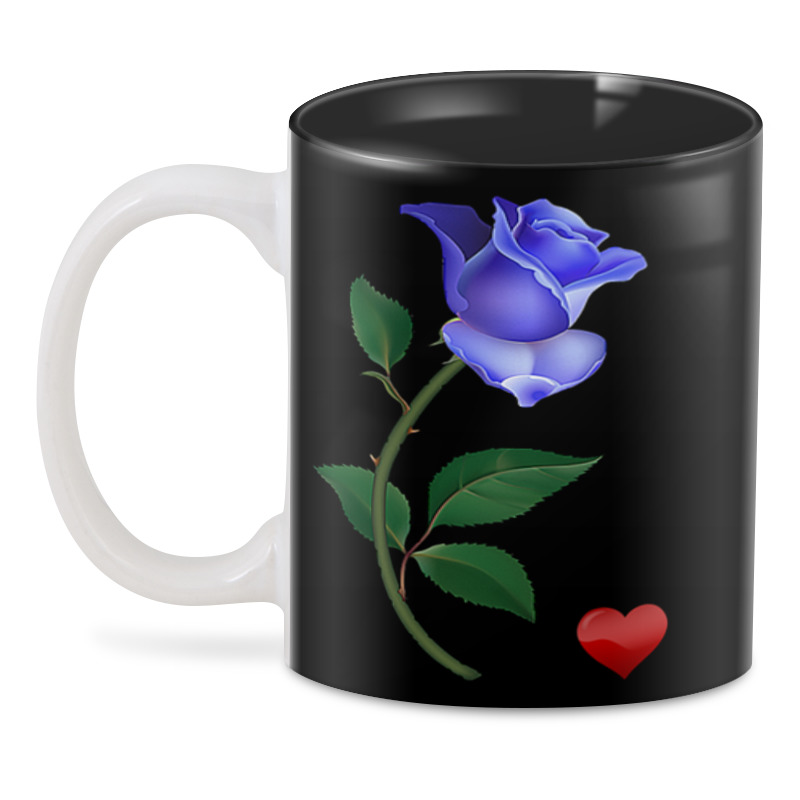 отиа иоселиани черная и голубая река Printio Голубая роза.