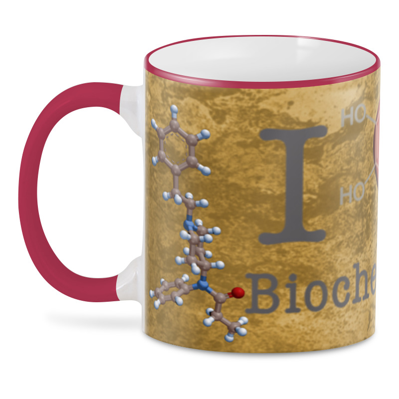 3D кружка Printio I love biochemistry richard langley h biochemistry for dummies