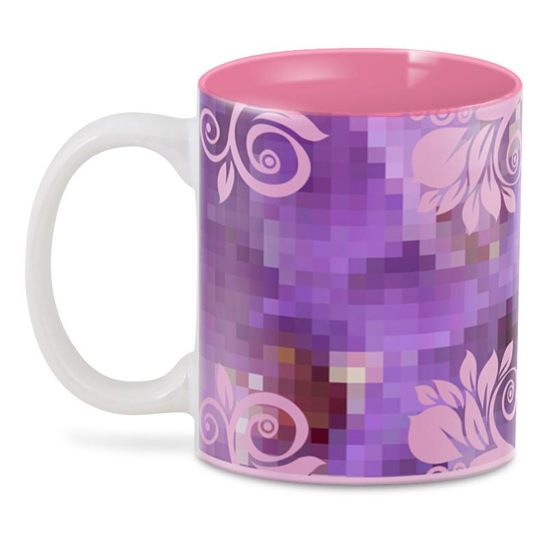 3D кружка Printio Фиолетово-розовая фантазия.