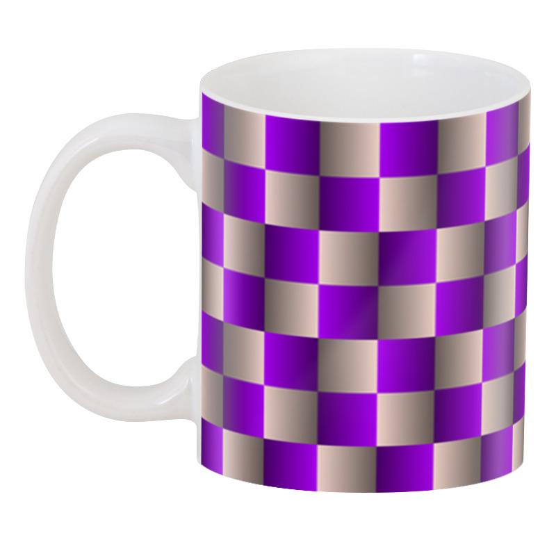 Printio Оптическая иллюзия шахматная доска 3 кружка с вашим текстом школьная доска