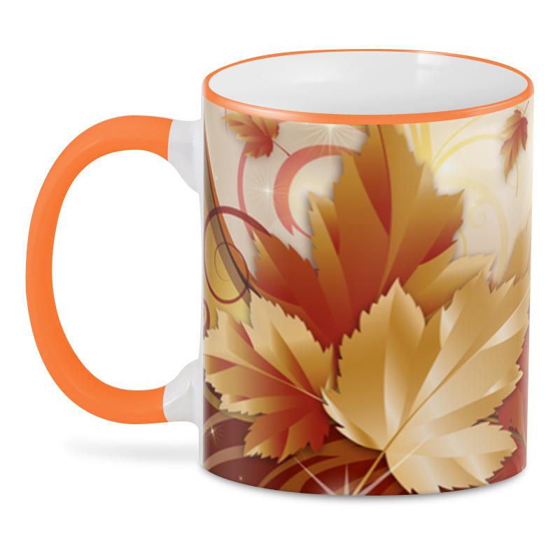 3D кружка Printio Осенние листья elff ceramics прямоугольная тарелка осенние листья