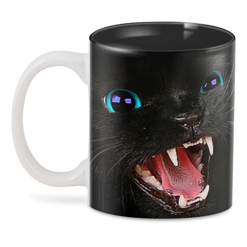 3D кружка Printio Черная кошка сувенир акм кружка текст спб h 9 5см d 8см фарфор черная