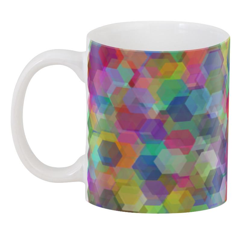 3D кружка Printio Разноцветные кристаллы