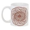"""3D кружка """"Цветок в стиле росписи хной"""" - цветы, мандала, этнический, индийский, мехенди"""