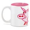 """3D кружка """"Розовый поросенок"""" - арт, счастье, малыш, свин, розовый поросенок"""
