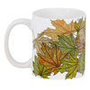 """3D кружка """"Золотая осень уронила листья"""" - листья, рисунок, осень, деревья, мехенди"""