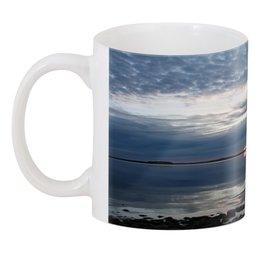 """3D кружка """"Восход солнца"""" - утро, солнце, рассвет, пейзаж, озеро"""