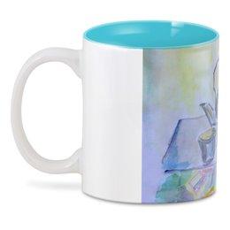 """3D кружка """"На кухне"""" - стакан, чай, яблоко, чайник, на кухне"""