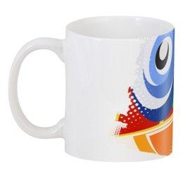 """3D кружка """"Смайл"""" - рисунок, смайлик, синий, веселый, для чая"""