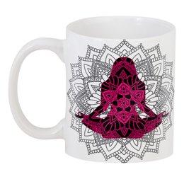 "3D кружка ""Черная Шакти мехенди"" - девушка, подарок, мандала, индийский, мехенди"