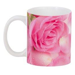 """3D кружка """"Капли на розовых лепестках"""" - 8 марта, день матери, цветы, капли, розы"""