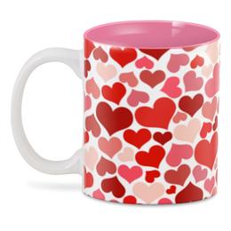 """3D кружка """"Сердца"""" - любовь, сердца, 14 февраля, день св валентина"""