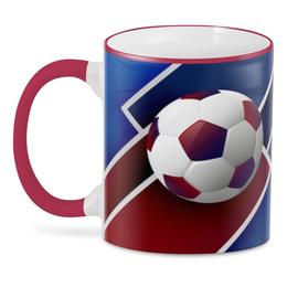 "3D кружка ""Футбол"" - футбол, спорт, мяч, 2018"