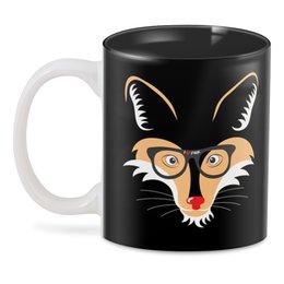 """3D кружка """"Лис (Fox)"""" - очки, лис, fox, лиса, животное"""