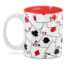 """3D кружка """"Game Cards"""" - карты, игра, игральные карты, азартные игры, игроманам"""