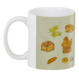 "3D кружка ""Краюшка"" - хлеб, круассан, булка, крендель, буханка"
